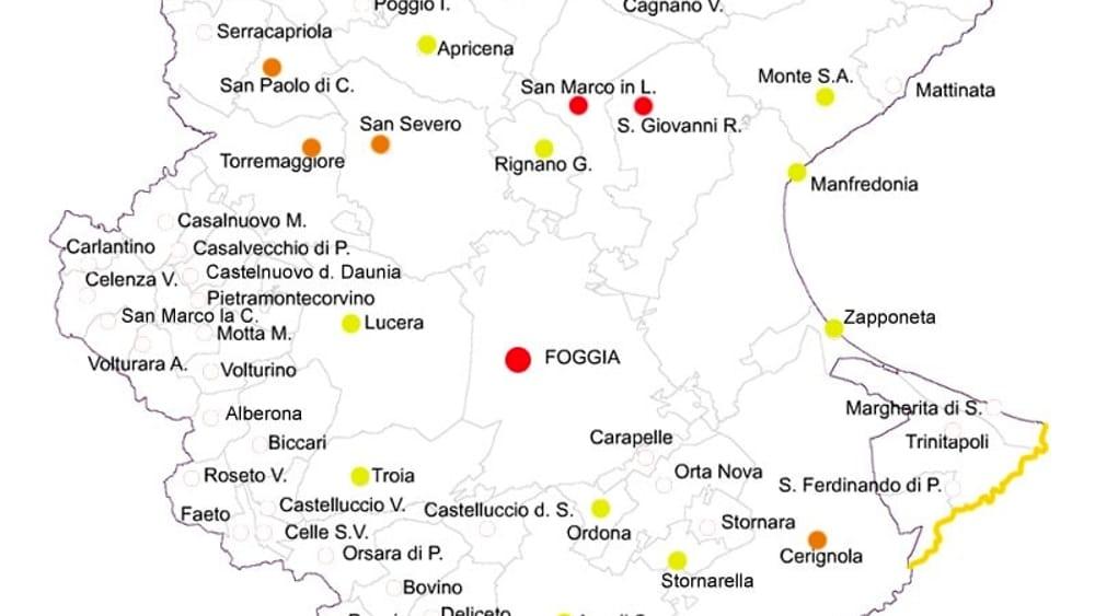 Cartina Puglia Zona Gargano.Coronavirus In Provincia Di Foggia La Mappa Dei Contagi